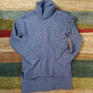Sun & Shadow Wool Blend Fringe Sweater Tunic